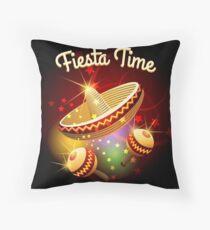 fiesta time theme Throw Pillow