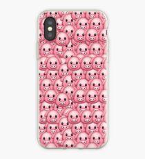 Pig Emoji Pattern iPhone Case