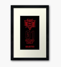 SEELE Red 01 Keel Lorenz Logo Evangelion Graphic Framed Print