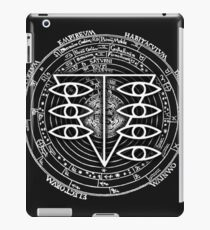 Seele Black Fancy Mandala Evangelion Logo Graphic iPad Case/Skin