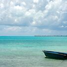 Rowboat on Eleuthera Island by Kent Nickell