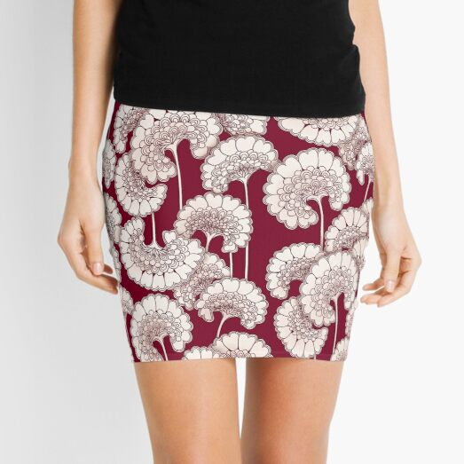 Florence Broadhurst Inspired Design - Red Mini Skirt