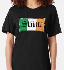 Camiseta ajustada Bandera irlandesa de Slainte