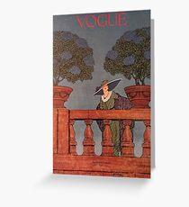 Vogue June 1912 Greeting Card