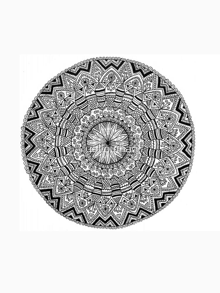 Black and White Original Mandala by yellowhan