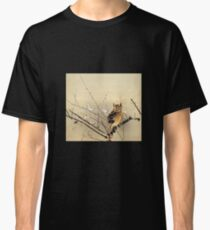 Goun Owl with Early Plum Blossoms Woodblock Print Classic T-Shirt