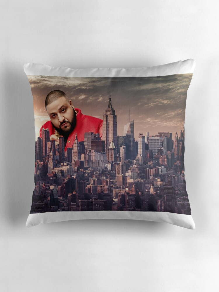 DJ Khaled The Giant Throw Pillows by FlyGraphics Redbubble