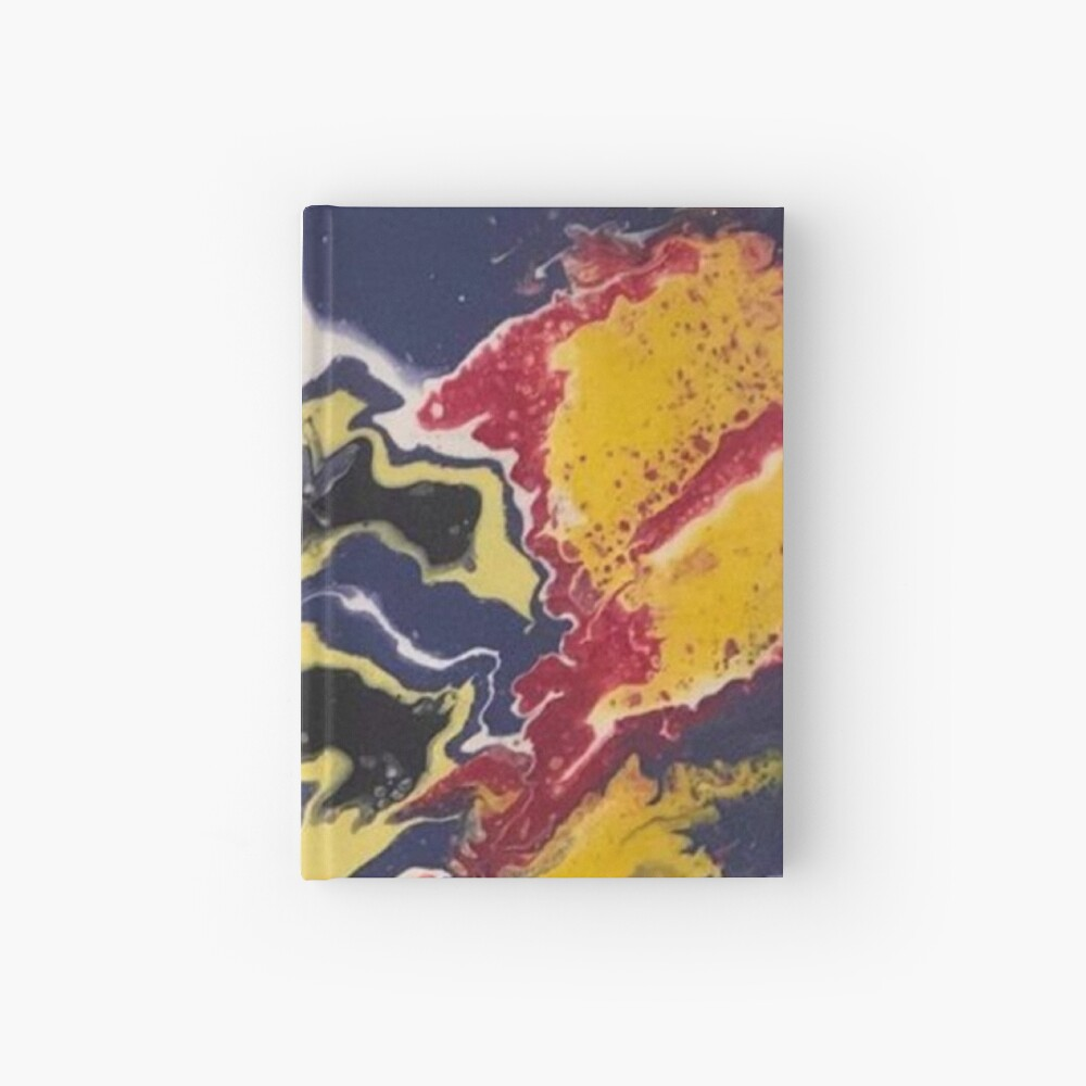 Peace Love & Happiness-Abstract Painting Hardcover Journal