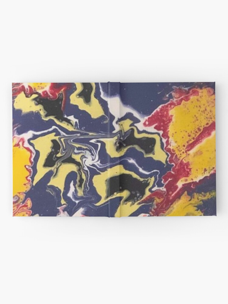 Alternate view of Peace Love & Happiness-Abstract Painting Hardcover Journal