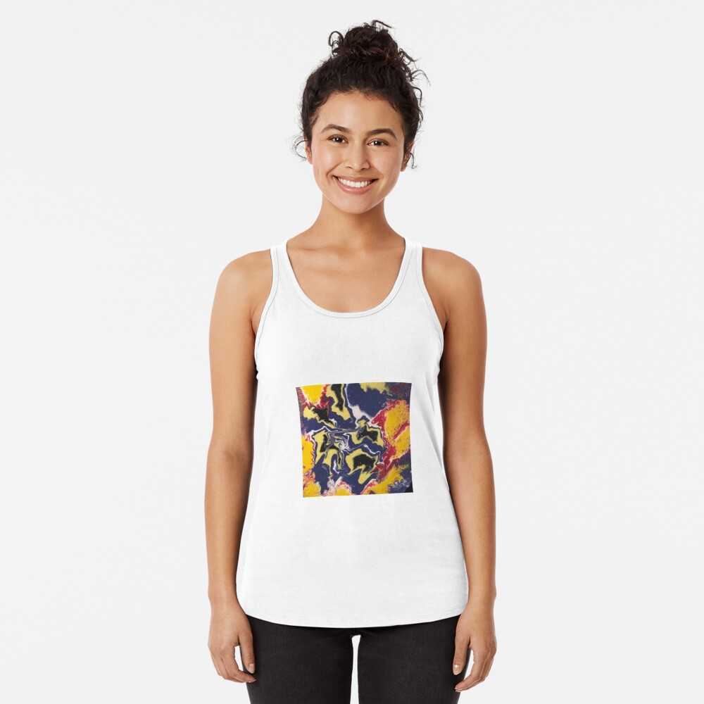 Peace Love & Happiness-Abstract Painting Racerback Tank Top