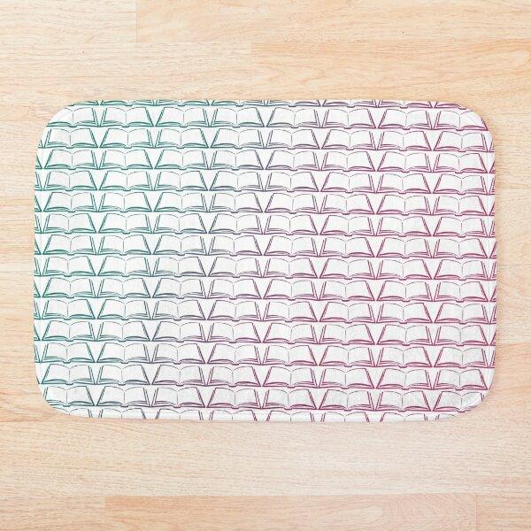 Open Books Colorful Pattern Bath Mat