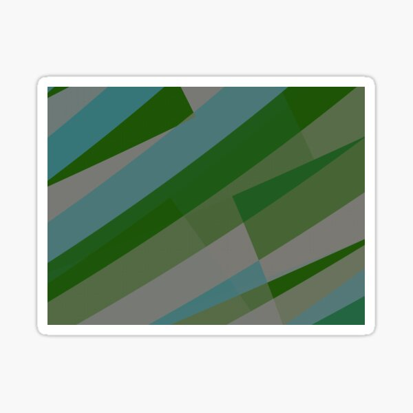 Leopard Zebra Pattern Green Blue Gray Sticker