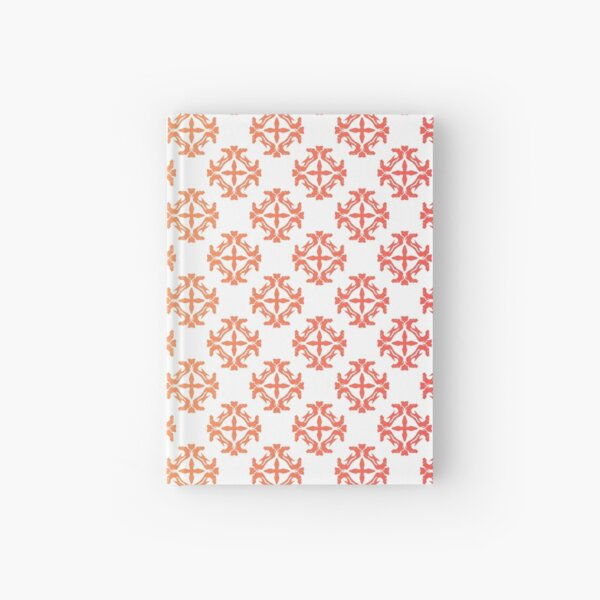 Dragon Fire Book Star Damask Colorful Pattern Hardcover Journal