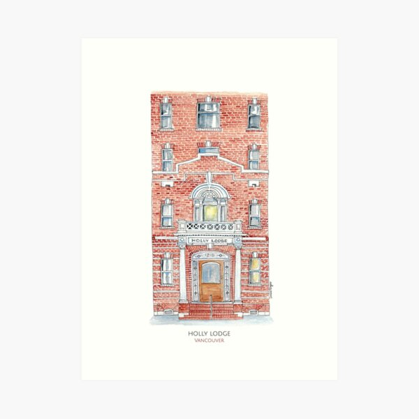Holly Lodge - Vancouver Art Print