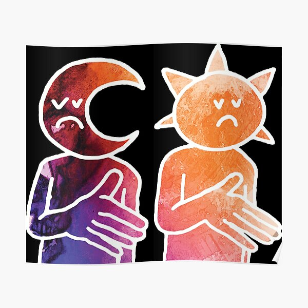 Day N Nite Sun and Moon (White) Poster