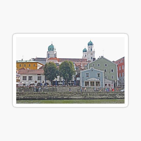 Engelhartszell waterfront, Austria Sticker