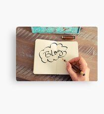 Motivational concept with handwritten text BLOG Canvas Print