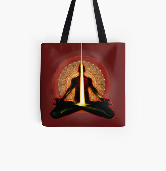 receiving light (meditator) All Over Print Tote Bag