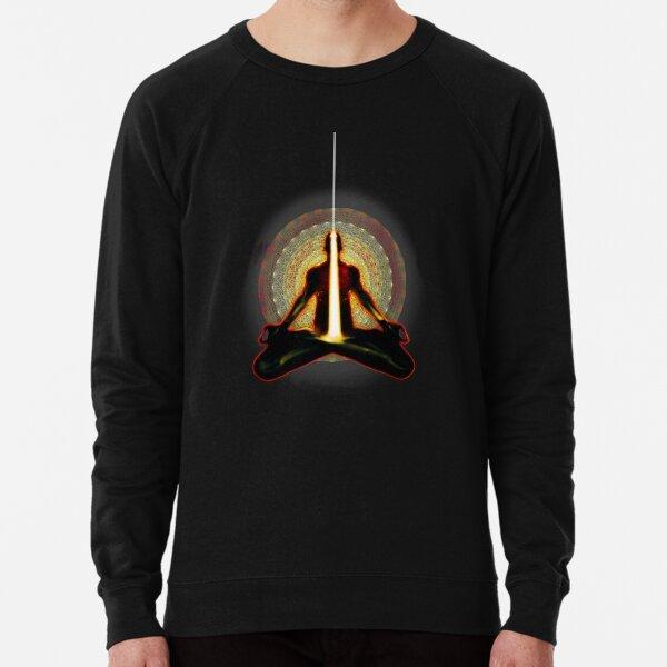 receiving light (meditator) Lightweight Sweatshirt
