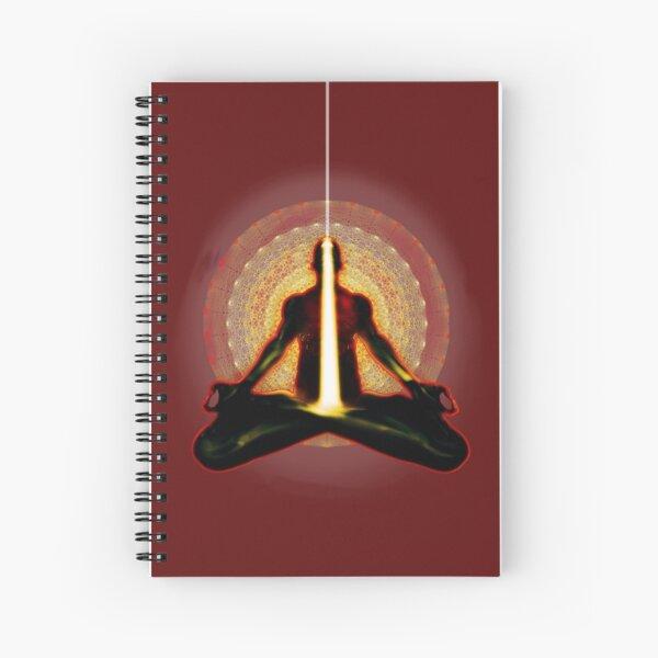 receiving light (meditator) Spiral Notebook