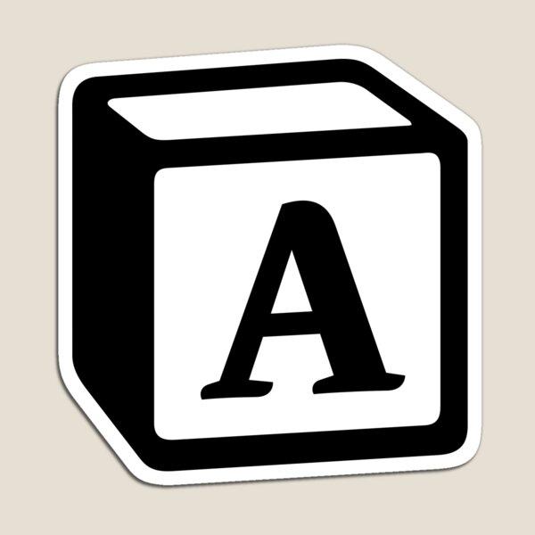 "Letter ""A"" Block Personalised Monogram Magnet"