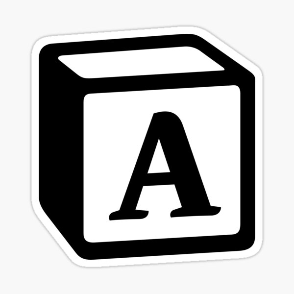 "Letter ""A"" Block Personalised Monogram Sticker"