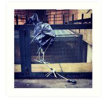 broken umbrella Art Print