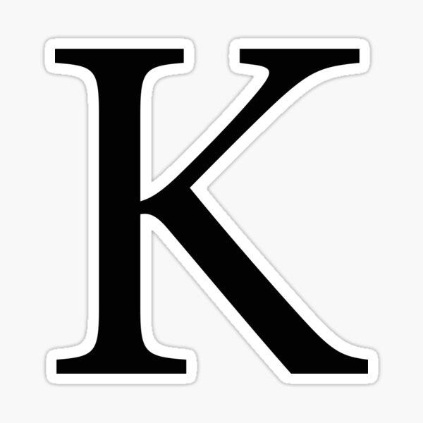 Kappa Greek Letter Sticker