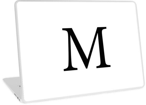 Mu Greek Letter Laptop Skins By Adventurefinder Redbubble