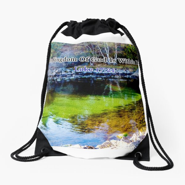 The Kingdom of God Drawstring Bag