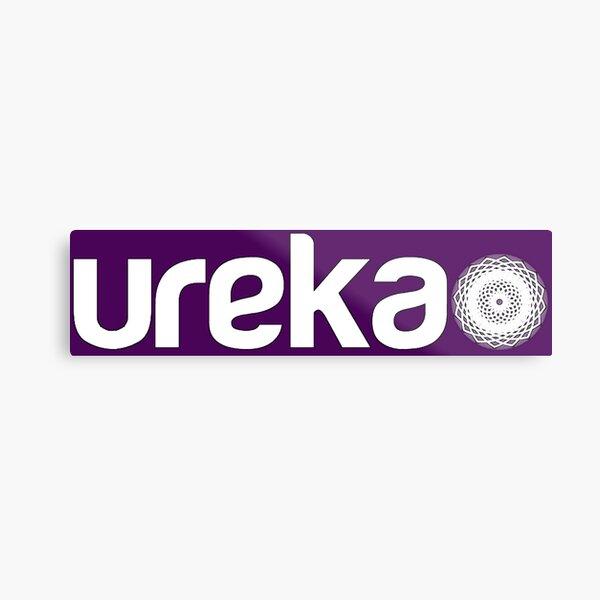 ureka: earth heart community - logo (white) Metal Print