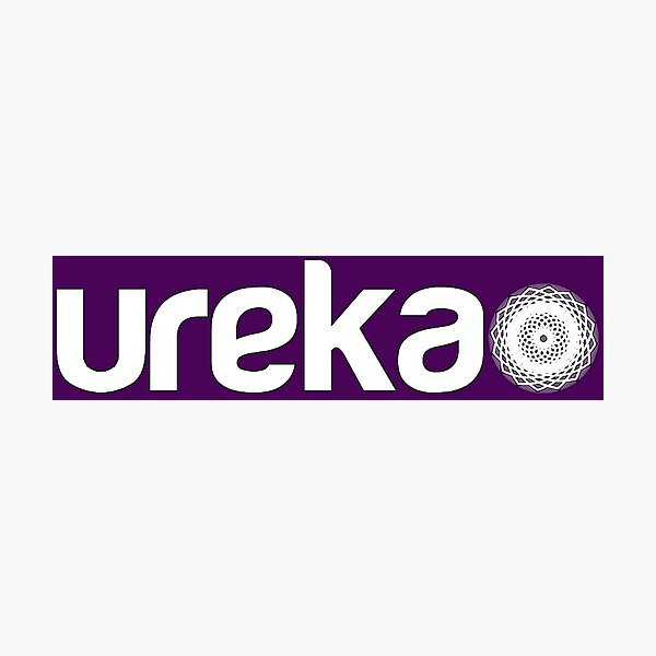 ureka: earth heart community - logo (white) Photographic Print