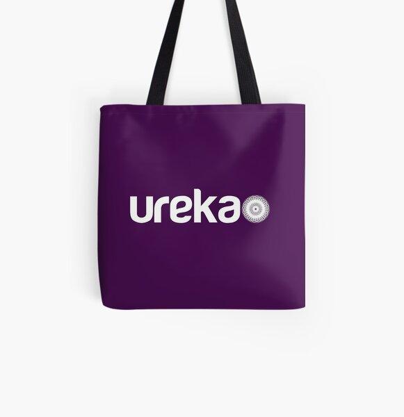 ureka: earth heart community - logo (white) All Over Print Tote Bag