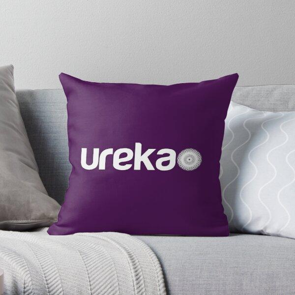 ureka: earth heart community - logo (white) Throw Pillow