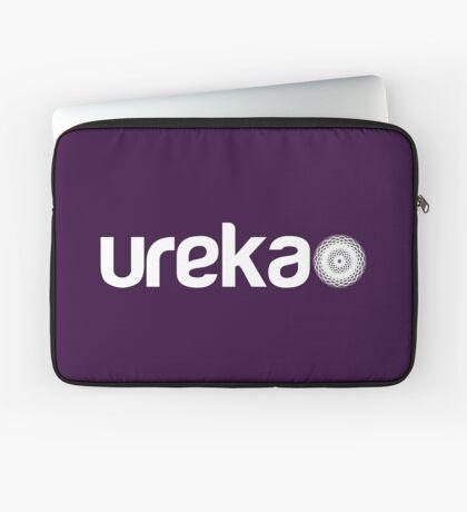 ureka: earth heart community - logo (white) Laptop Sleeve