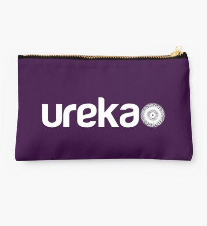 ureka: earth heart community - logo (white) Studio Pouch