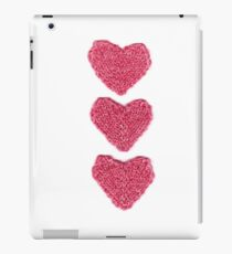 Pink Love Hearts Knitted iPad Case/Skin