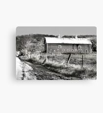 Barn along a Country Road Canvas Print