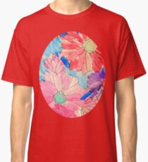 Rainbow Watercolor Flowers Classic T-Shirt