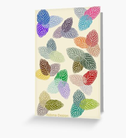 Coloured Leaf Pattern 2677 Views Greeting Card