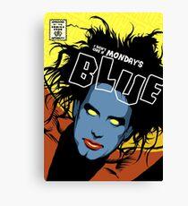 Post-Punk Blue Canvas Print