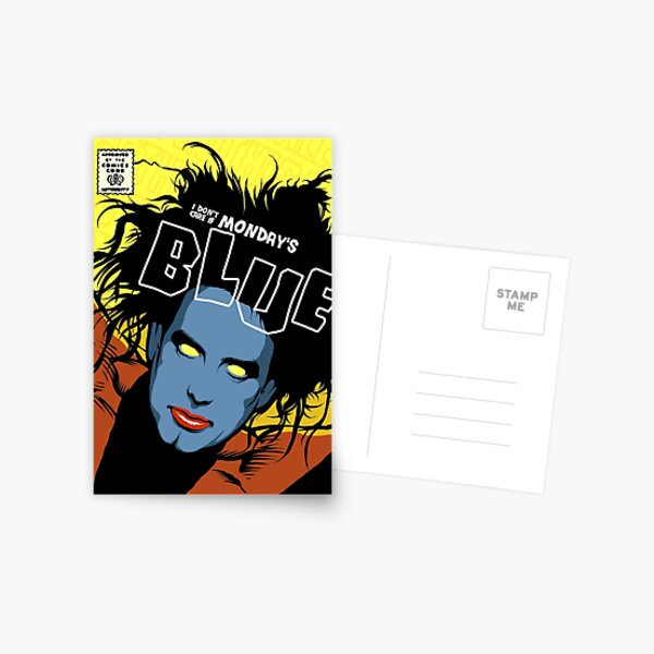 Post-Punk Blue Postcard