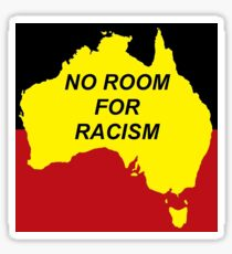 No Room For Racism - Aboriginal Flag (zoomed in) Sticker