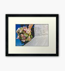 Bouquet & Dress  Framed Print