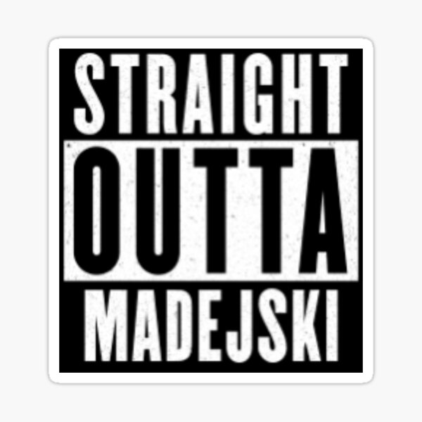 Straight Outta Madejski - Inspired By Reading! Design by Be More Chill Apparel Sticker