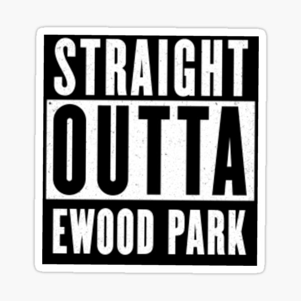 Straight Outta Ewood Park - Inspired By Blackburn Rovers! Design by Be More Chill Apparel Sticker