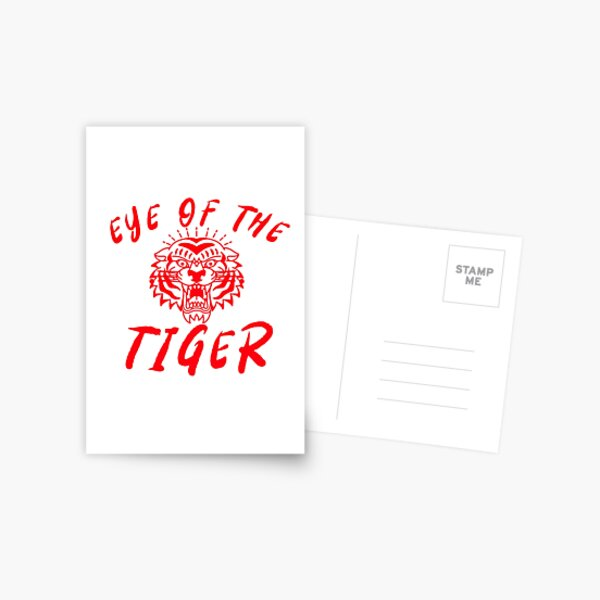 THE EYE OF THE TIGER Postcard