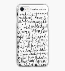 Psalm 116 Bible Verse | Modern Calligraphy iPhone Case/Skin