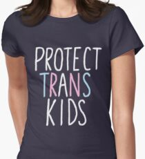 protect trans kids Women's Fitted T-Shirt