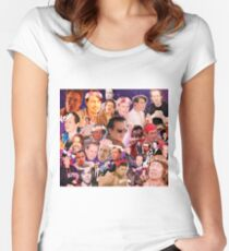 Steve Buscemi Galaxy Collage Women's Fitted Scoop T-Shirt